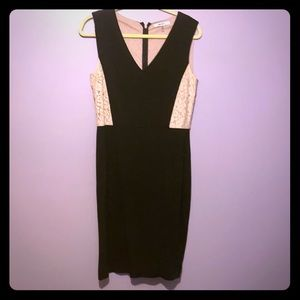 DKNYC Black and Nude Lace Dress